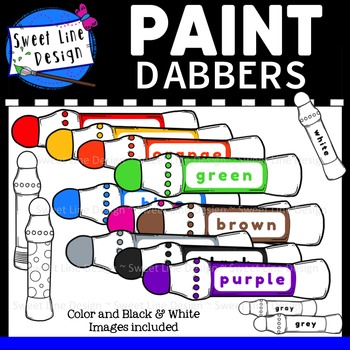 Clipart - Paint Dabbers {Sweet Line Design}