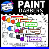Clipart - Paint Do A Dot Dabbers {Sweet Line Design}