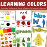 Learning Colors Activities, Worksheets and Flash Cards for Autism (Bundle)