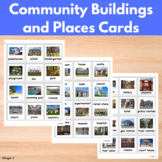 Community Buildings and Places Communication Cards for Autism
