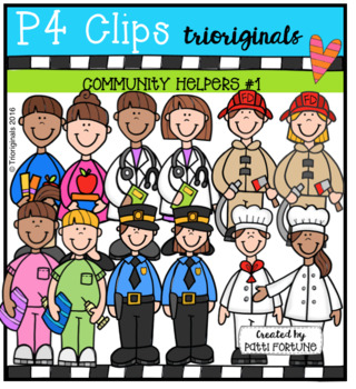 Community Helpers Set #1 (P4 Clips Trioriginals Clip Art)