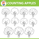 {50% OFF} Counting Apples Clipart 0 to 20