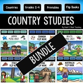 Country Studies Bundle with 11 Countries in all! Brazil, Canada, China, Japan