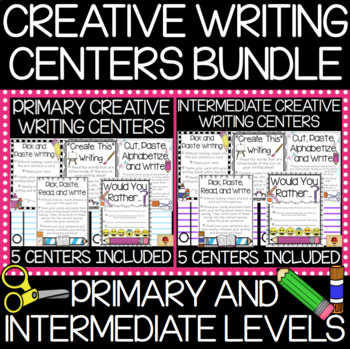 Creative Writing Centers Bundle (Primary and Intermediate Levels}
