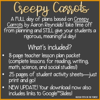 Creepy Carrots FULL DAY of Lesson Plans
