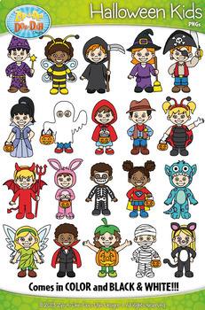 Halloween Kid Characters Clipart {Zip-A-Dee-Doo-Dah Designs}
