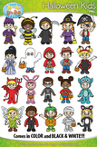 Halloween Kid Characters Clipart {Zip-A-Dee-Doo-Dah Designs}