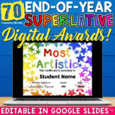 End of the Year Superlative Awards Editable Google Classroom™ Distance Learning