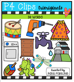 DR Words (P4 Clips Trioriginals Digital Clip Art)