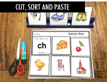 [50% OFF}  Digraphs Sorting Activity (th, sh, ch, wh, ph, qu, tch, ng, ck)