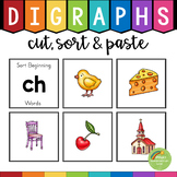 Digraphs Sorting Activity (th, sh, ch, wh, ph, qu, tch, ng, ck)