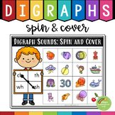 Digraphs Spin & Cover Game (th, sh, ch, wh, ph, qu, tch, ng, ck)