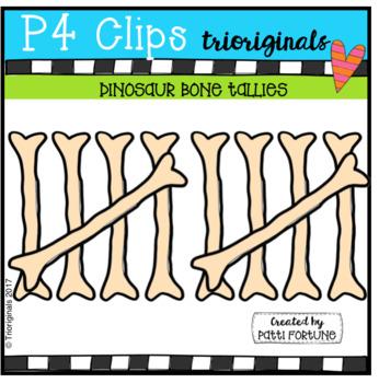 Dinosaur Bone Tallies (P4 Clips Trioriginals Clip Art)