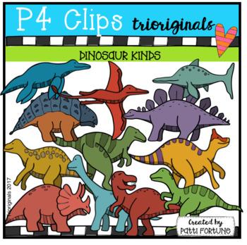 Dinosaur Kinds (P4 Clips Trioriginals Clip Art)