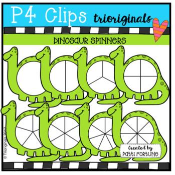 Dinosaur Spinners (P4 Clips Trioriginals Clip Art)