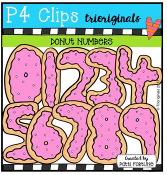 Donut Numbers (P4 Clips Trioriginals Clip Art)