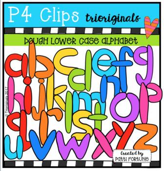 Dough Lower Case Letters (P4 Clips Trioriginals Clip Art)