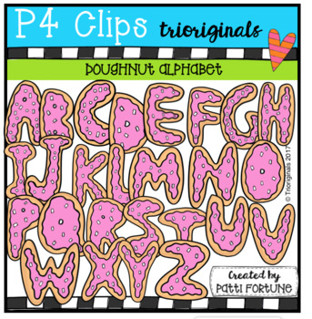 Donut Alphabet (P4 Clips Trioriginals Clip Art)