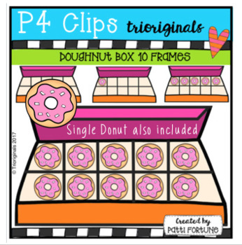 Doughnut Box 1-10 Frames (P4 Clips Trioriginals Clip Art)