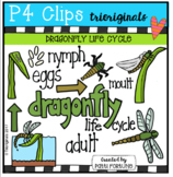 Dragonfly Life Cycle (P4 Clips Trioriginals Clip Art)