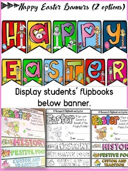 EASTER: INFORMATIONAL REPORT WRITING RESEARCH TEMPLATES