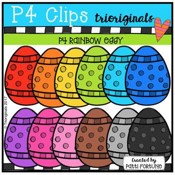 EGGY RAINBOW Eggs (P4 Clips Trioriginals Clip Art)