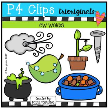 EW Words (P4 Clips Trioriginals Clip Art)