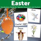 Easter Vocabulary Printable Pictures for Special Education and Autism