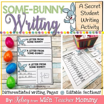 *50% OFF* Easter Writing Activity- Spring Writing Prompts- Secret Some-BUNNY