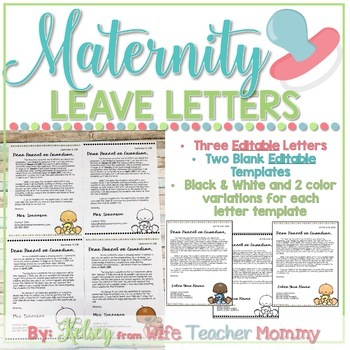 Maternity leave letter to parents teaching resources teachers pay editable maternity leave letter to parents editable maternity leave letter to parents spiritdancerdesigns Images