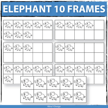 Elephant 10 Frames Clip Art