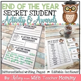 End of the Year Activity and Awards, Secret Student Writing