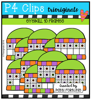 Eyeball 10 Frames (P4 Clips Trioriginals Digital Clip Art)