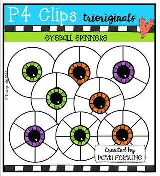 Eyeball Spinners (P4 Clips Trioriginals Digital Clip Art)