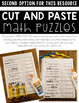 2nd Grade January Math Puzzles | Unlock the Fact | Math Centers | Cut and Paste