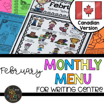 Canadian February Writing Prompts & Word Work