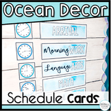 *50% OFF FIRST 24 HOURS!* Ocean Classroom Decor Schedule Cards EDITABLE