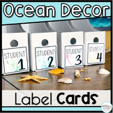*50% OFF FIRST 24 HOURS!* Ocean Theme Classroom Labels