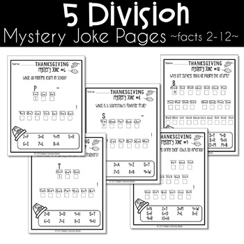 Thanksgiving Multiplication and Division Worksheets