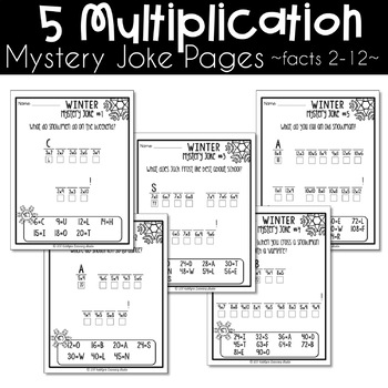 Winter Multiplication and Division Worksheets
