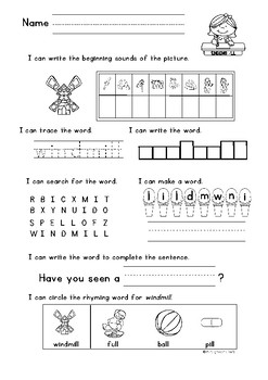 Double Ending - LL, -SS, -FF, -ZZ Word Work 7 activities in one page!