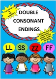 Double Ending - LL, -SS, -FF, -ZZ Word Work 7 activities i