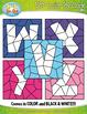 ALPHABET LOWERCASE LETTERS Color By Code Clipart {Zip-A-Dee-Doo-Dah Designs}