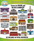 Community Buildings Clipart {Zip-A-Dee-Doo-Dah Designs}
