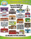 Community Buildings Clipart {Zip-A-Dee-Doo-Dah Designs}