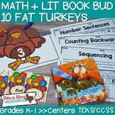 10 Fat Turkeys Book Bud | Thanksgiving Activities | Turkey