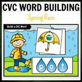Weather Spring  Rain Themed CVC Word Building Pack