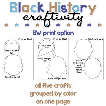 Black History Paper Craft Craftivity