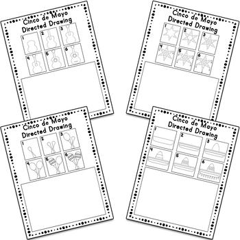Cinco de Mayo Directed Drawing Activity Worksheets