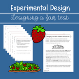 Designing a Fair Test ~ NGSS Aligned  Grade 4 and 5